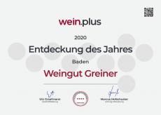 GREINER - Entdeckung des Jahres 2020 Baden - von Wein.Plus