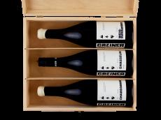 Symphonie Blanc - Trio unserer Weißweinen in exquisiter Holzkiste