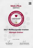2017 Weißburgunder - Sehr gut, Lieblingswein erhält 89WP von Marcus Hofschuster